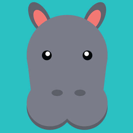 mule: hippopotamus Illustration