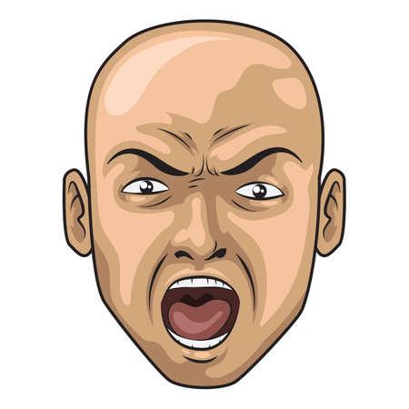 shouting: shouting man