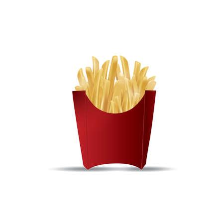 crisp: french fries pack Illustration