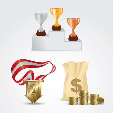 Collection of award prizes