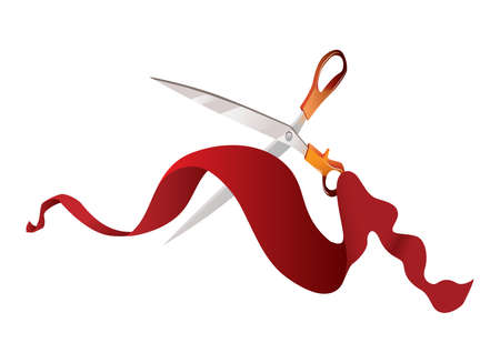 inaugural: cutting the red ribbon