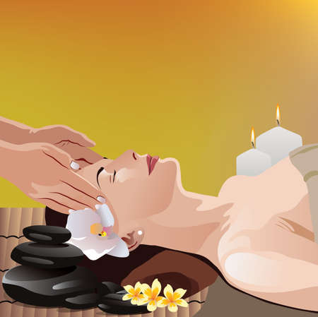 beauty therapist: woman being massaged at a spa