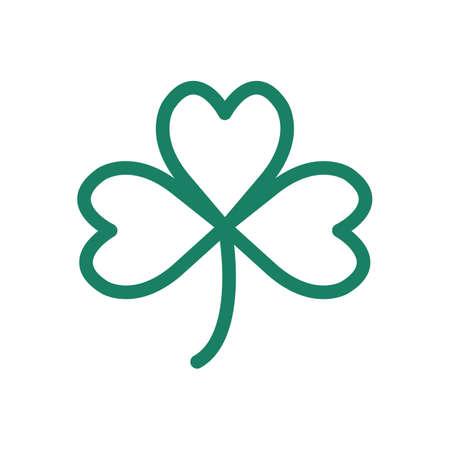 heart shaped leaves: shamrock Illustration