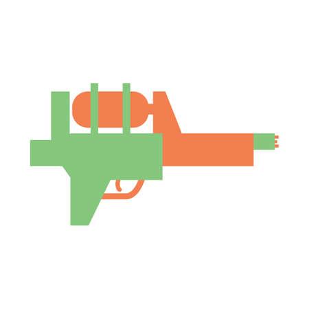water gun: plastic water gun