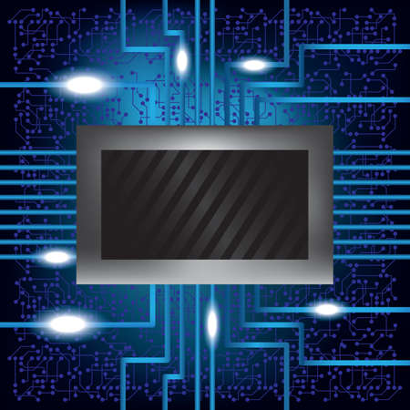 electronic circuit: electronic circuit background Illustration