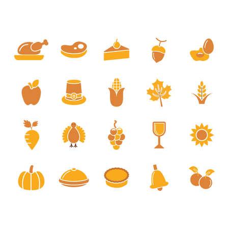 set di icone di ringraziamento