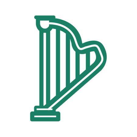 stringed: harp Illustration