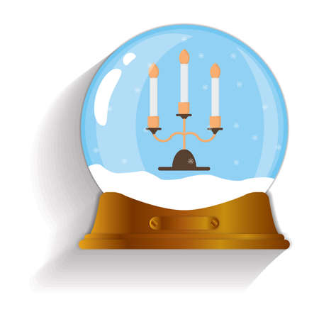 burning: burning candles snow globe Illustration