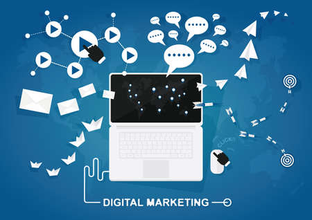 digital marketing: digital marketing Illustration