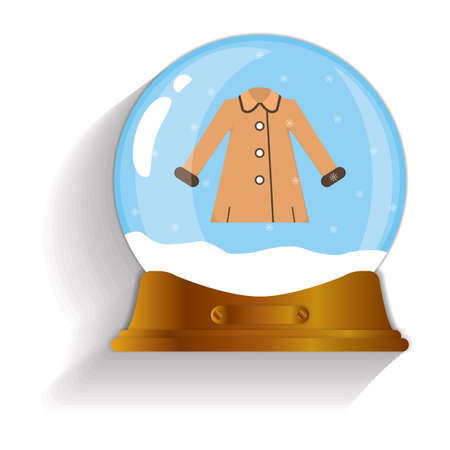 snow globe: winter coat snow globe