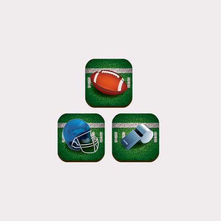 umpire: american football icons Illustration