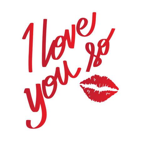 so: i love you so lettering