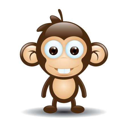 primate: cute monkey cartoon
