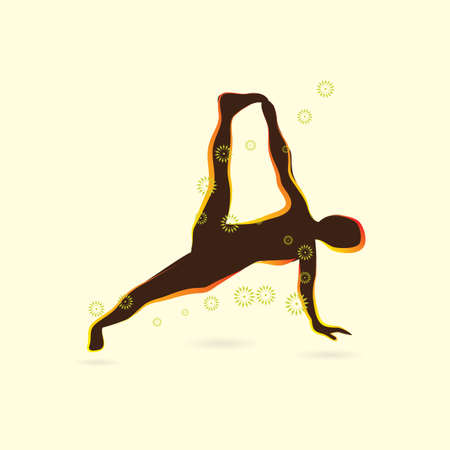 variation: woman silhouette practising yoga in side plank pose variation