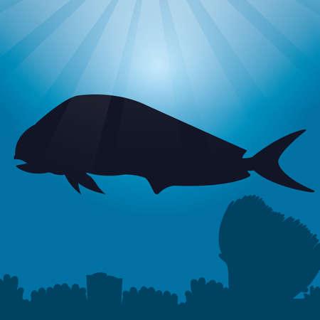 dorado fish: dorado fish silhouette