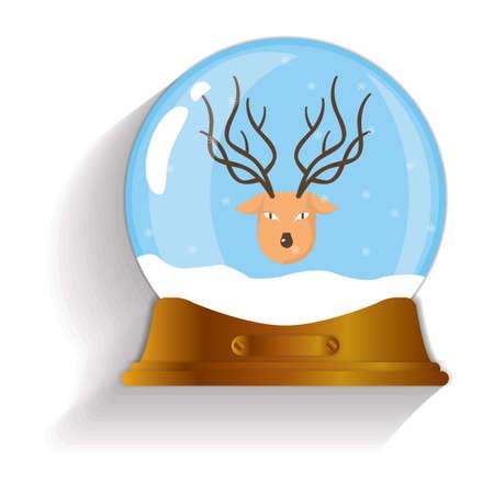 snow globe: reindeer snow globe