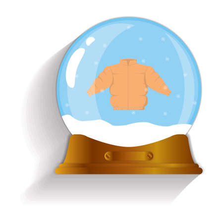 quilted: winter quilted coat snow globe