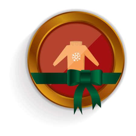 sueter: bot�n su�ter navidad Vectores