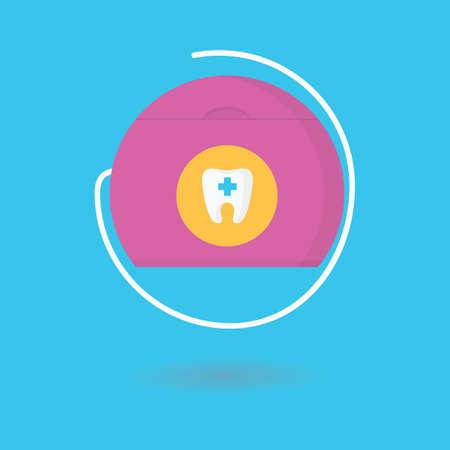 A dental floss illustration. Ilustracja