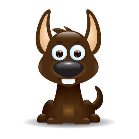 cute cartoon: cute dog cartoon Illustration