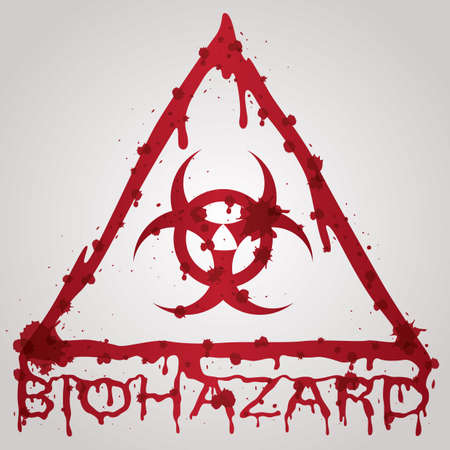 biohazard: bloody biohazard sign Illustration