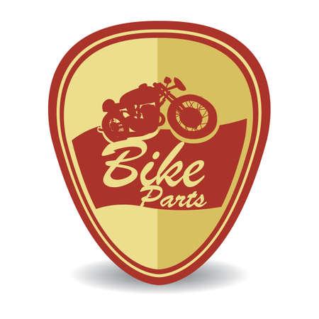 bike parts: bike parts label Illustration