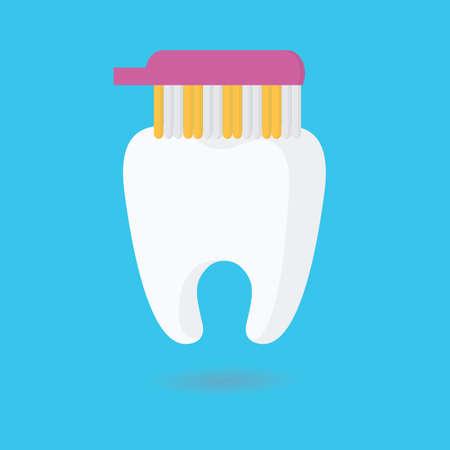 oral care: toothbrush brushing tooth