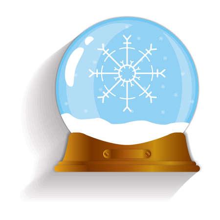 snow globe: snowflake snow globe Illustration