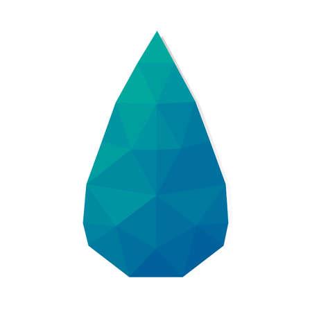 faceted: faceted droplet Illustration