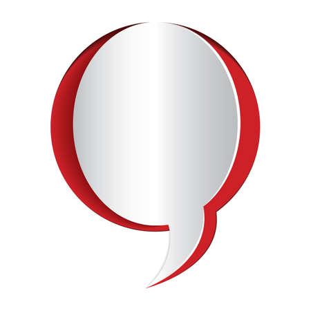 cut outs: paper cut out of a speech bubble