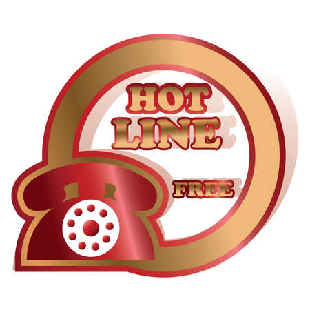 hot line: hot line label