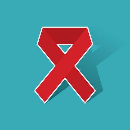 aids awareness: red ribbon aids awareness