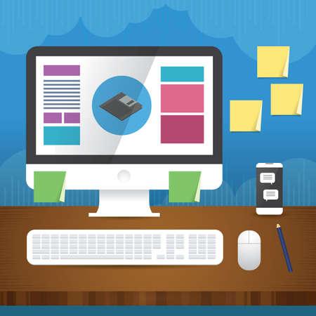 desk: computer desk