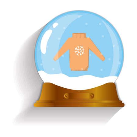 sueter: navidad nieve suéter globo