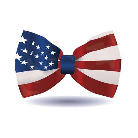 american flag bow royalty free cliparts vectors and stock rh 123rf com Cartoon Bow Ties Fun Bow Ties