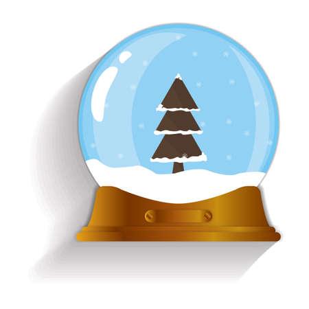 snow globe: christmas tree snow globe