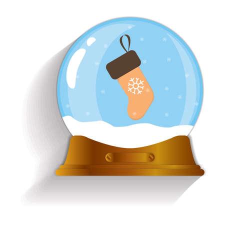 christmas stocking: christmas stocking snow globe