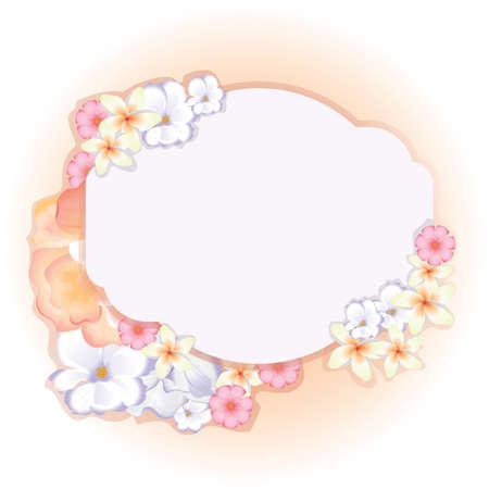 copyspaces: floral template Illustration