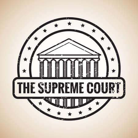 supreme: supreme court label Illustration