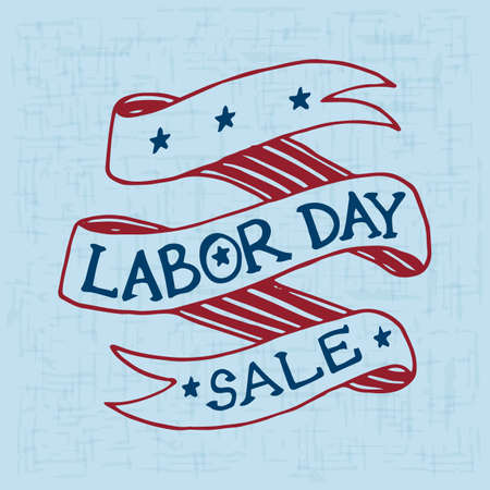 labor day sale poster Vector Illustration