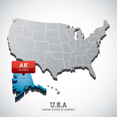 alaska: alaska state on the map of usa