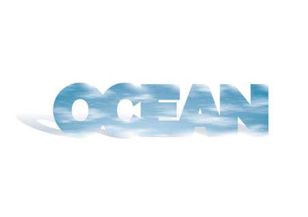 double exposure of ocean and water