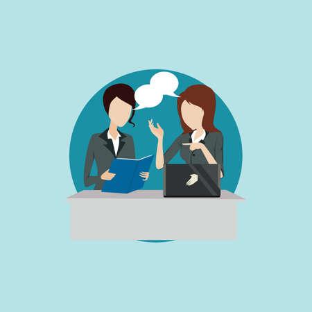 talking: businesswomen talking
