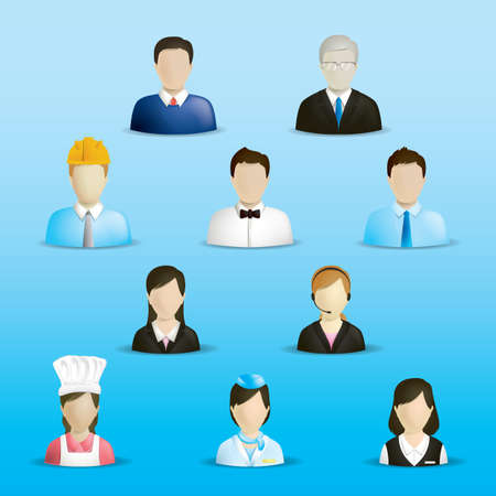 the profession: people with different profession