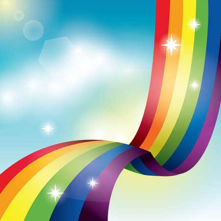 rainbow: rainbow with stars