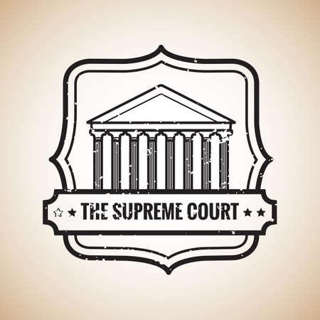 supreme court label Ilustração