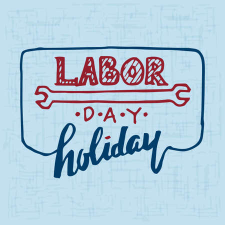 holiday: labor day holiday poster Illustration