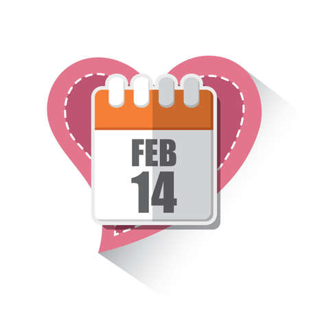 feb: feb 14th calendar page