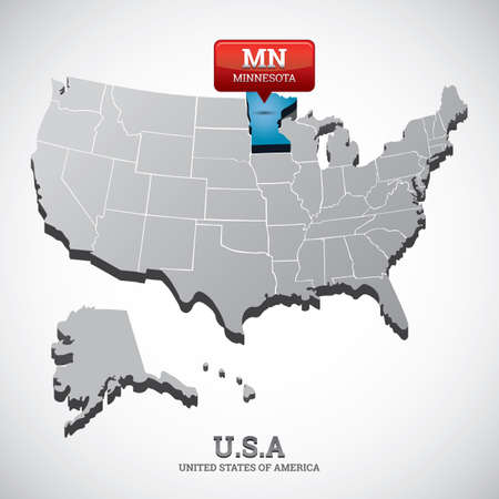 indicate: minnesota state on the map of usa