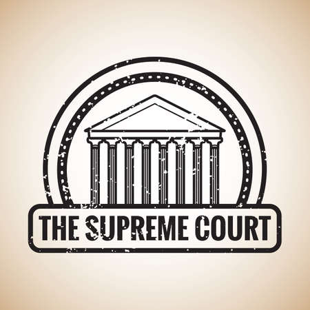 supreme: supreme court label Illustration